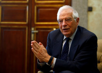 Spain's Foreign Minister Josep Borrell talks during an interview commenting on the possible Brexit extension, in Madrid, Spain March 20, 2019. REUTERS/Javier Barbancho