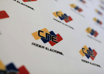 The logo of the National Electoral Council (CNE) is seen in its headquarters in Caracas, Venezuela February 26, 2018. REUTERS/Marco Bello