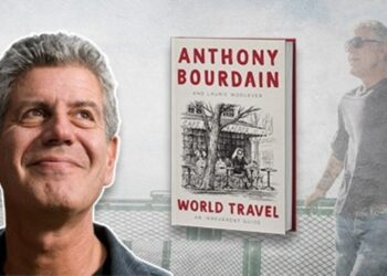 World Travel An Irreverent Guide. Anthony Bourdain. Foto de archivo.